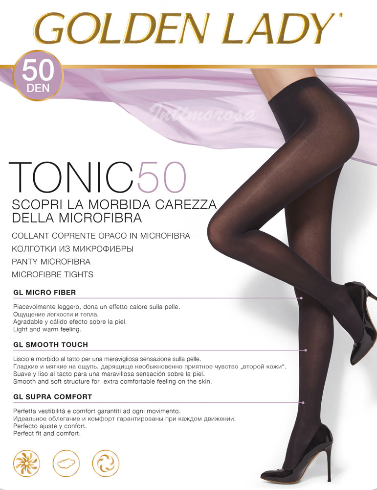 lowest price e5150 4a101 Details about Tights Microfibre Golden Lady 5 Pairs Tonic 50 Den Money  Covering Warm