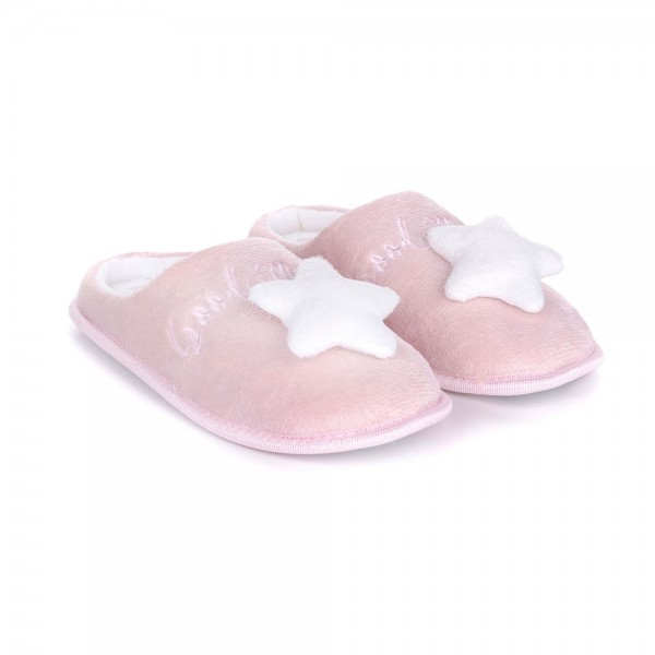Pantofole da donna Milk and Honey sh0161 rosa con stella