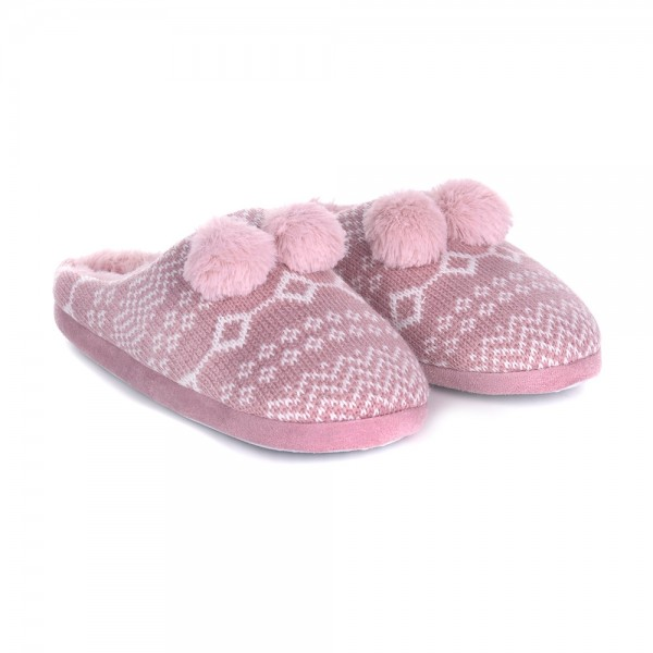 Pantofole Milk and Honey sh0184 rosa con pon pon
