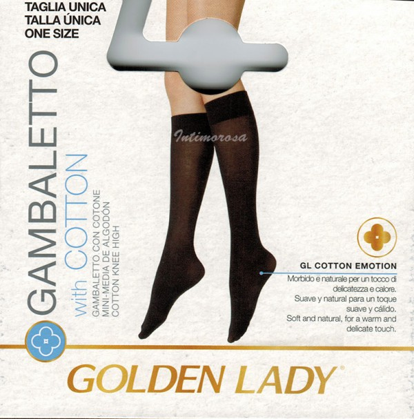 0 Gabaletti donna Golden lady Trend cotton in cotone 6 paia