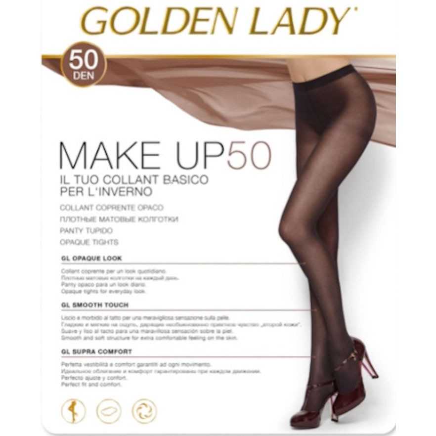 COLLANT IN MICROFIBRA GOLDEN LADY TONIC 50 DENARI COPRENTE CALDO OPACO
