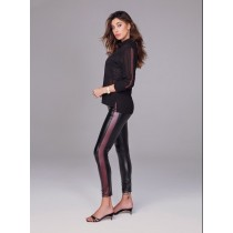 Leggings Jadea moda 4087 in eco pelle banda laterale