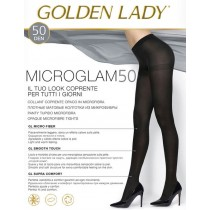 Collant Golden Lady microglam 50 den coprente in microfibra 5 paia