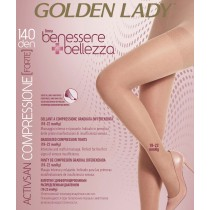 Collant riposante Golden Lady Activsan 140 den compressione graduata forte