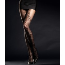 Sexy collant Hunt me 30 den nero animalier