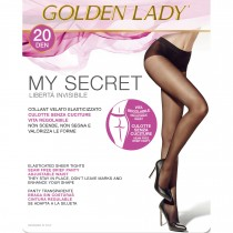 Collant senza cuciture Golden Lady My Secret 20 den velato pack