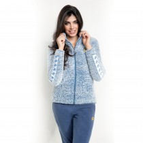 Pigiama Lotto LA3030 donna in pile sherpa denim