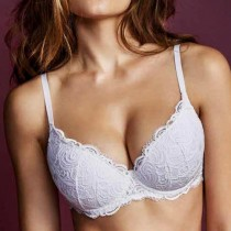 Reggiseno push up Lormar plunge con ferretto pizzo
