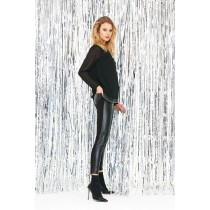 Leggins donna Sisi Easy Rock eco pelle nero