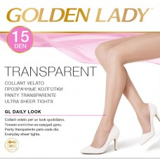 Collant velato 15 den golden lady transparent 10 paia