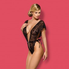 Sexy body intimo hot Obsessive merossa teddy in pizzo nero