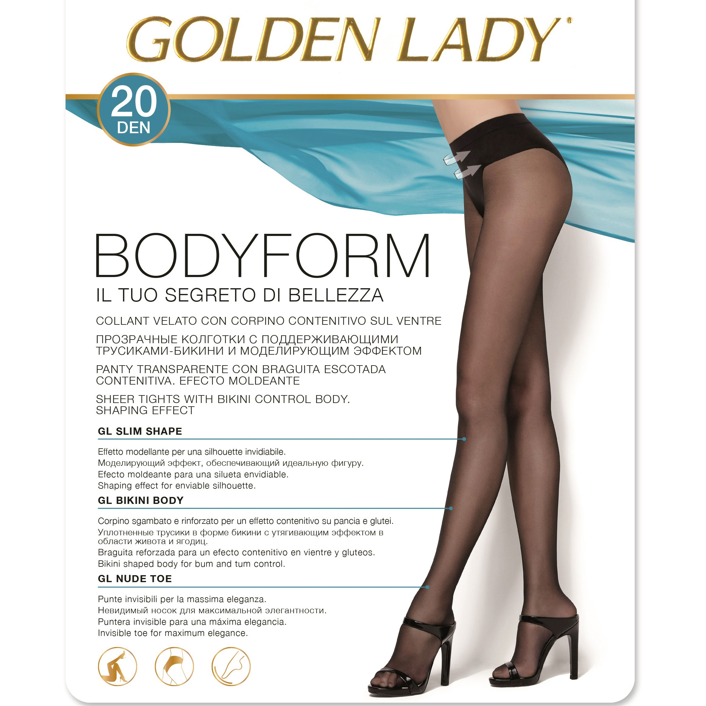 30 DEN Donna GOLDEN LADY Collant